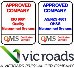ISO9001, AS4801 and VicRoads Certified